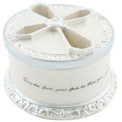 First Communion Rosary Box with Cross Cutout