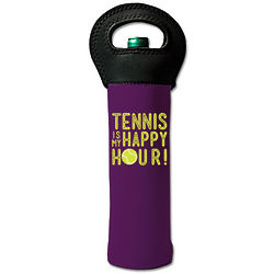 Tennis is My Happy Hour Wine Tote