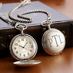 Personalized Brushed Pocket Watch