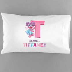 Girl's Personalized Abby Cadabby Initial Pillowcase