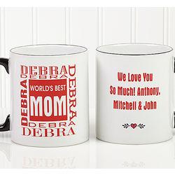 World's Best Mom Personalized Coffee Mug
