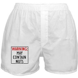 Warning: May Contain Nuts Boxer Shorts
