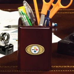 Pittsburgh Steelers Wooden Pencil Cup