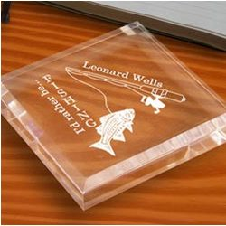 Personalized Fishing Paperweight