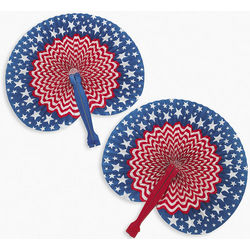 Stars and Stripes Folding Fans
