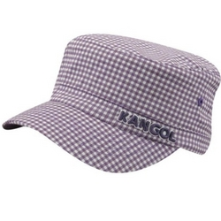 Kids Gingham Army Cap