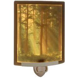 Woodland Sunbeams Colored Lithophane Night Light