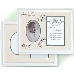 Framed Baptism Signature Frame with Blessing Print