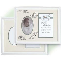Framed Baptism Signature Frame with Blessing Print