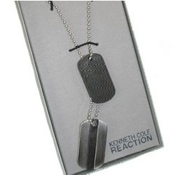 Kenneth Cole Dog Tag Necklace