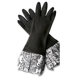 Sassy Black Lace Rubber Gloves
