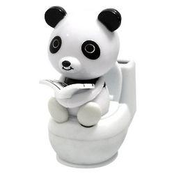 Panda on Toilet Solar Motion Toy