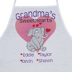 Elephant Sweethearts Personalized Apron