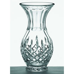 "Crystal Longford 10"" Footed Bulb Vase"