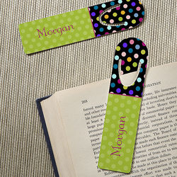 Polka Dots For Her Personalized Bookmark Set
