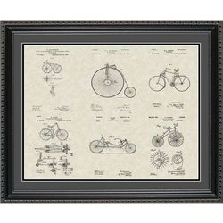 Bicycles Patent Art Wall Hanging