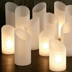 Set of Three White Frost Torch Lights