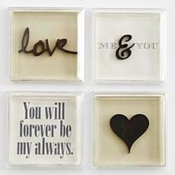 Decorative Love Message Magnets