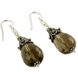 Rajasthan Melody Smoky Quartz Dangle Earrings
