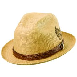 Men's Sacred Fire Straw Fedora Hat