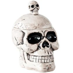 Skull Covered Container