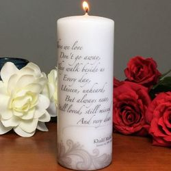 Personalized Those We Love Sympathy Candle