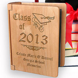 "Personalized ""Class of"" Wooden Photo Album"