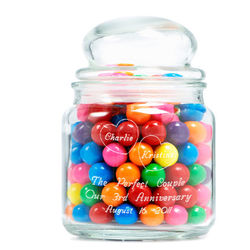 Personalized Perfectly Sweet Glass Jar
