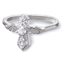 Sterling Silver 'Heavenly Angel' Ring