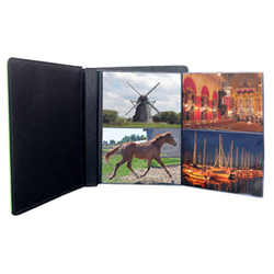 "Leather 4""x6"" 2-Up Fold-out Album"
