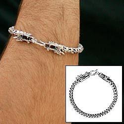 The Protector Men's Sterling Silver Bracelet