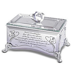 Reflections of Love for Granddaughter Mirrored Music Box