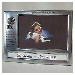 Personalized Caption First Holy Communion Photo Frame