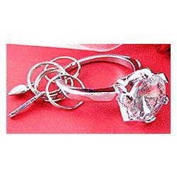 Diamond Ring Key Chain