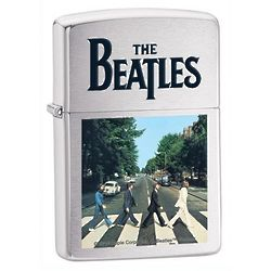 The Beatles Abbey Road Brushed Chrome Zippo Lighter