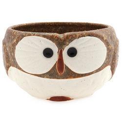 Hand Painted Stoneware Owl Mug