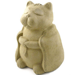 Meditating Buddha Cat Statue