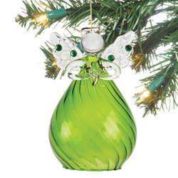 Irish Angel Glass Ornament