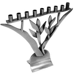 Pewter Tree of Life Menorah