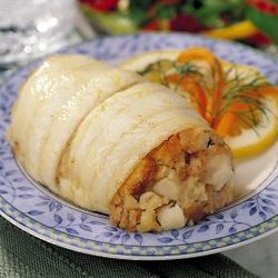 Set of 12 Stuffed Sole with Scallops and Crabmeat
