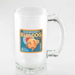 Bulldog Personalized Frosted Beer Mug