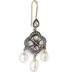 Versailles Diamond and Pearl Chandelier Earrings
