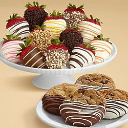 Chocolate Dipped Cookies Strawberry Medley Gift Box
