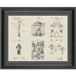 Scuba Diving Patent Art Wall Hanging
