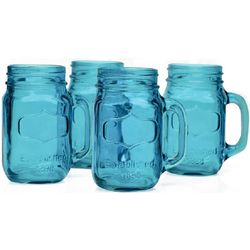 Cool Blue Mason Jar Mugs
