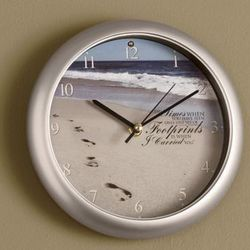 Footprints Inspirational Clock