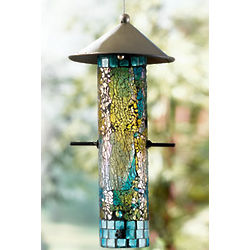 Mosaic Recycled Glass Bird Feeder