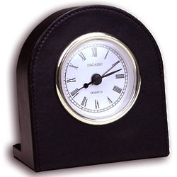 Black Leather Desk Clock