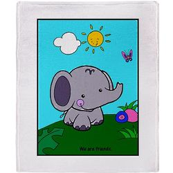 Rainforest Animals Throw Blanket
