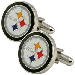 Pittsburgh Steelers Team Logo Cufflinks